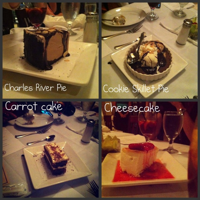 Desserts at Joe's American Bar and Grill