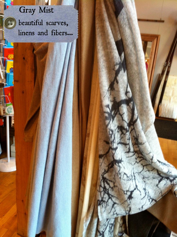scarves grey mist