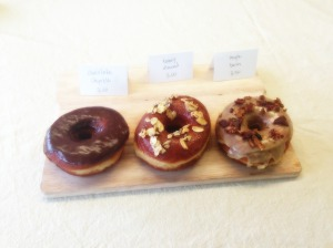 The famous maple bacon donut from Union Square Donuts.