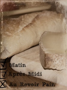 Bye, bye, baguette.  When time and tradition conflict, carbs are sacrificed.
