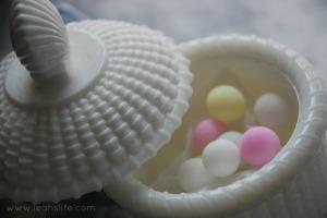 pearls in Nantucket basket