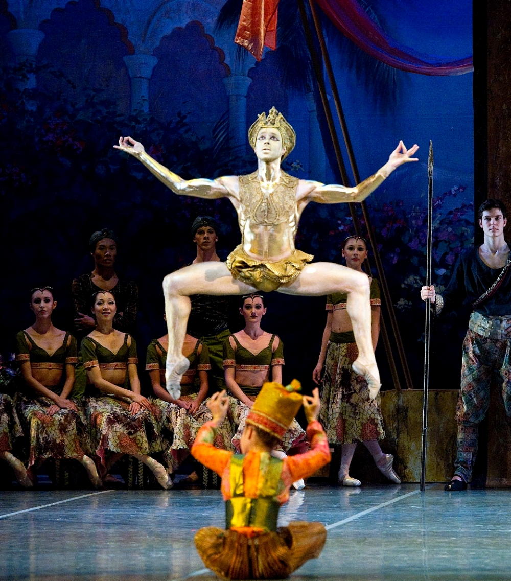 Joseph Gatti in Boston Ballet's La Bayadère. Photography by Gene Schiavone courtesy of Boston Ballet
