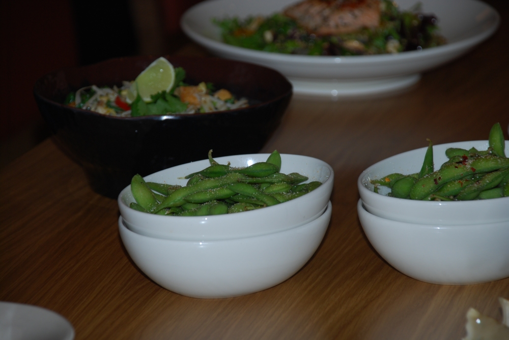Edamame is always the perfect snack or appetizer.  It's one the kids love to eat too...at least
