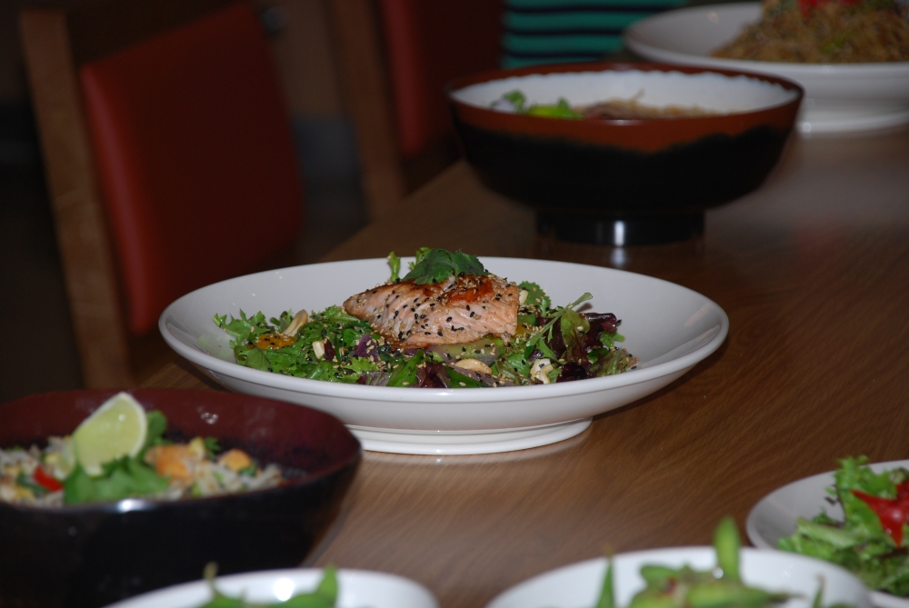 The Mandarin salmon and sesame salad was one of my favourite main dishes.  The salmon had a nice crisp crust (like crispy skin) and was cooked to perfection.
