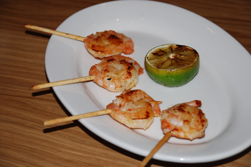 Another favourite of my shrimp loving daughter's.  A perfectly simple grilled shrimp marinated in lemongrass with really subtle flavours.
