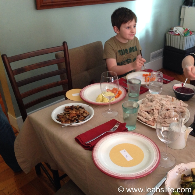 """""""A table!""""  Let's eat!  We are thankful for all this bountiful harvest.  Thanksgiving."""