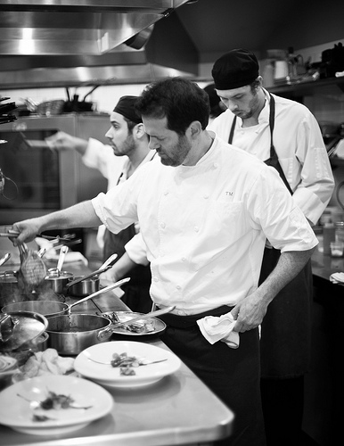 Kitchen Action. Photo by Michael Piazza courtesy of Craigie on Main