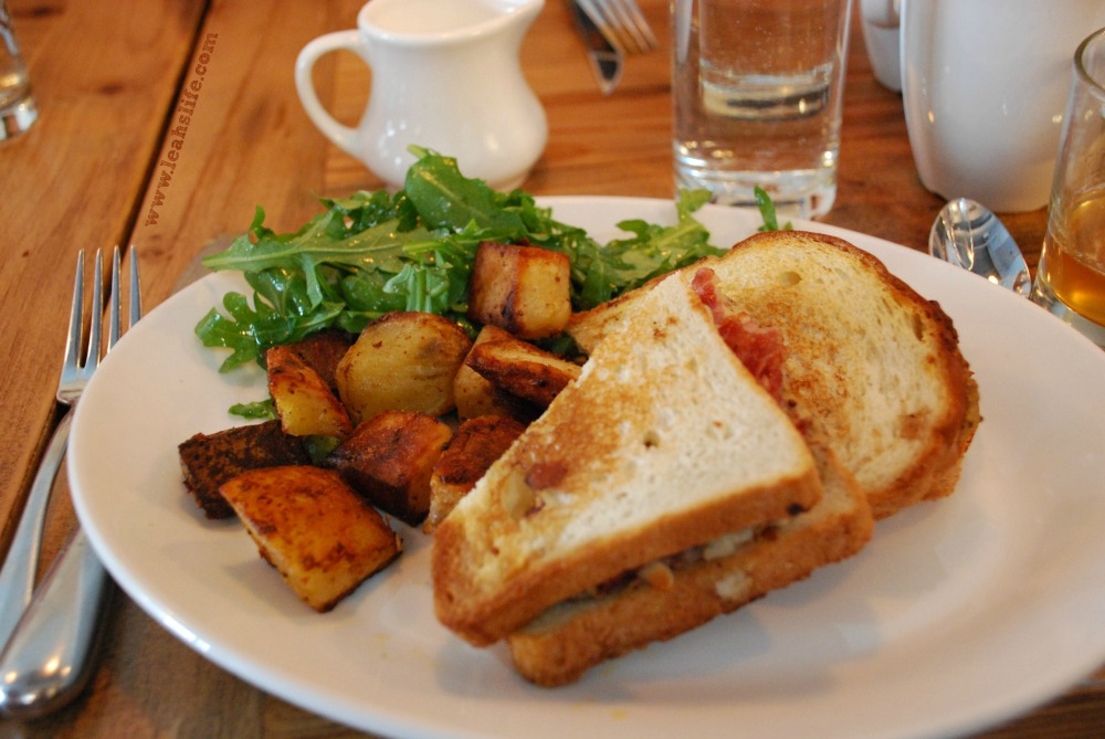 Puritan & Co. brunch.  Coppa ham sandwich with the most perfect potatoes.