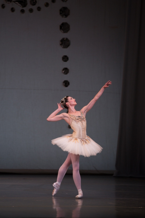 Kathleen Breen Combes in Boston Ballet's Diamonds ©The George Balanchine Trust. Photo by Rosalie O'Connor