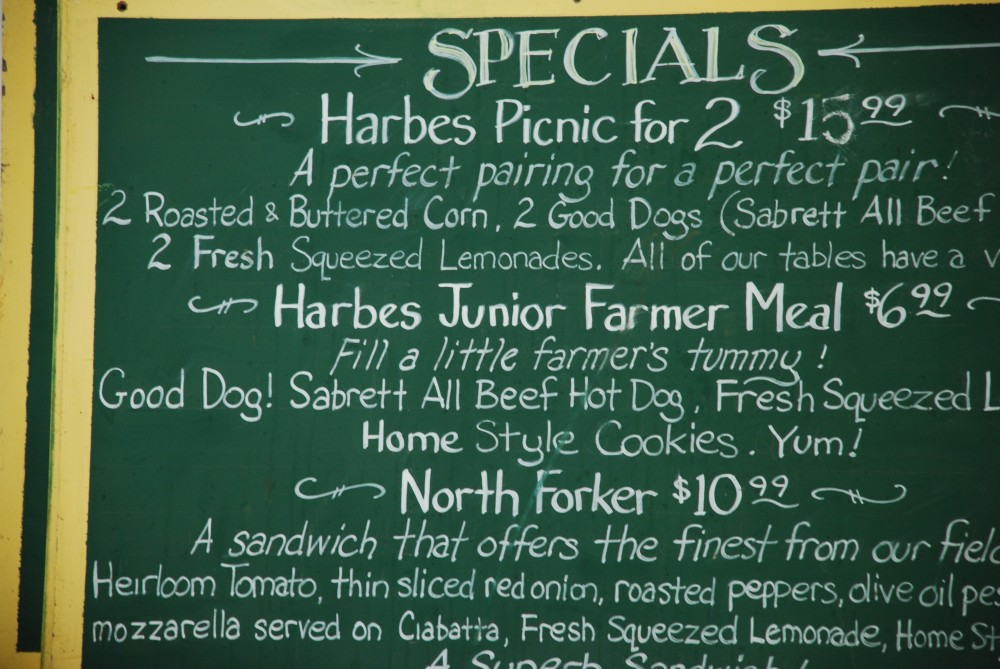 lunch specials at Harbes Family Farm