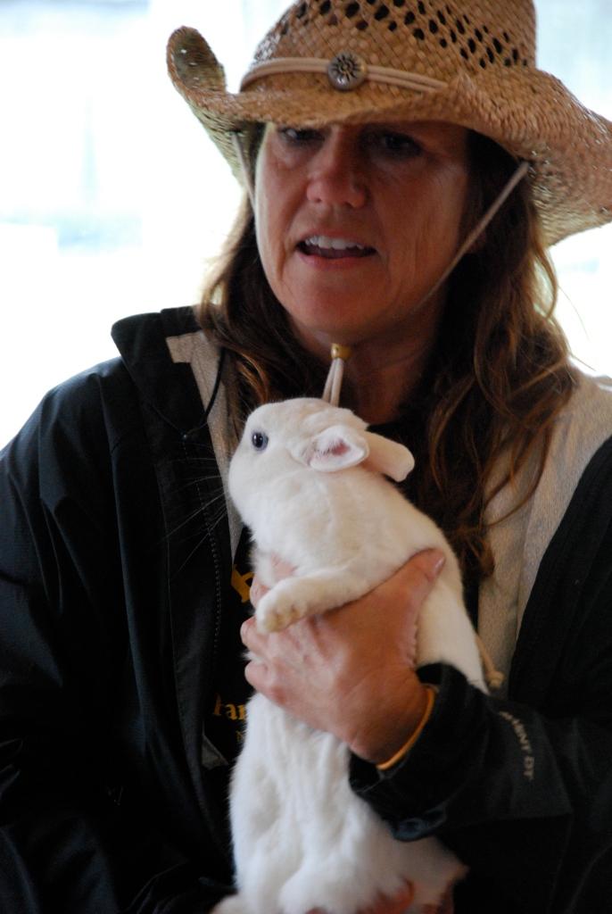 Bunny mascot of the Barnyard Adventure