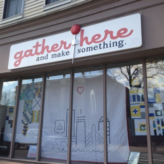 Gather Here sidewalk sale.