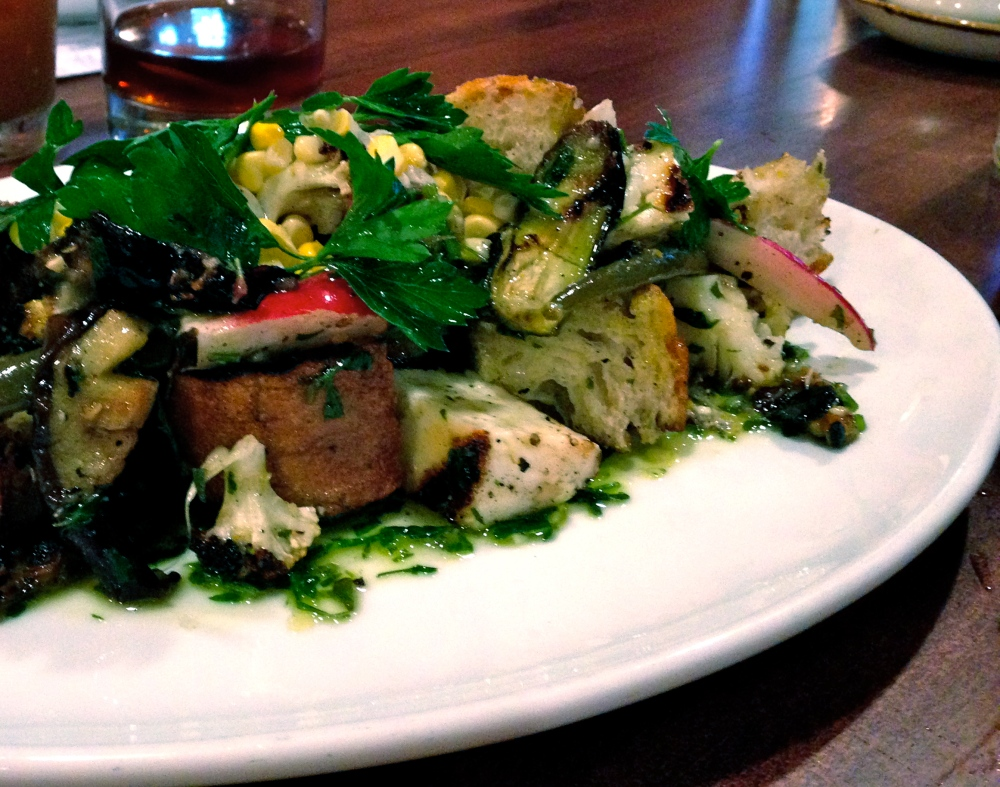 Spring Vegetable Panzanella at Alden & Harlow.