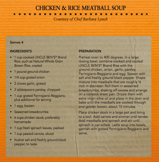 Barbara Lynch's Chicken & Rice Meatball Soup