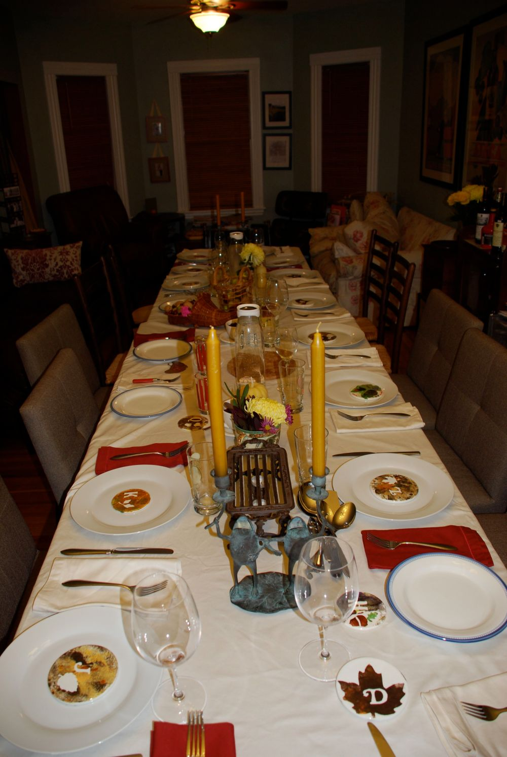Thanksgiving table.