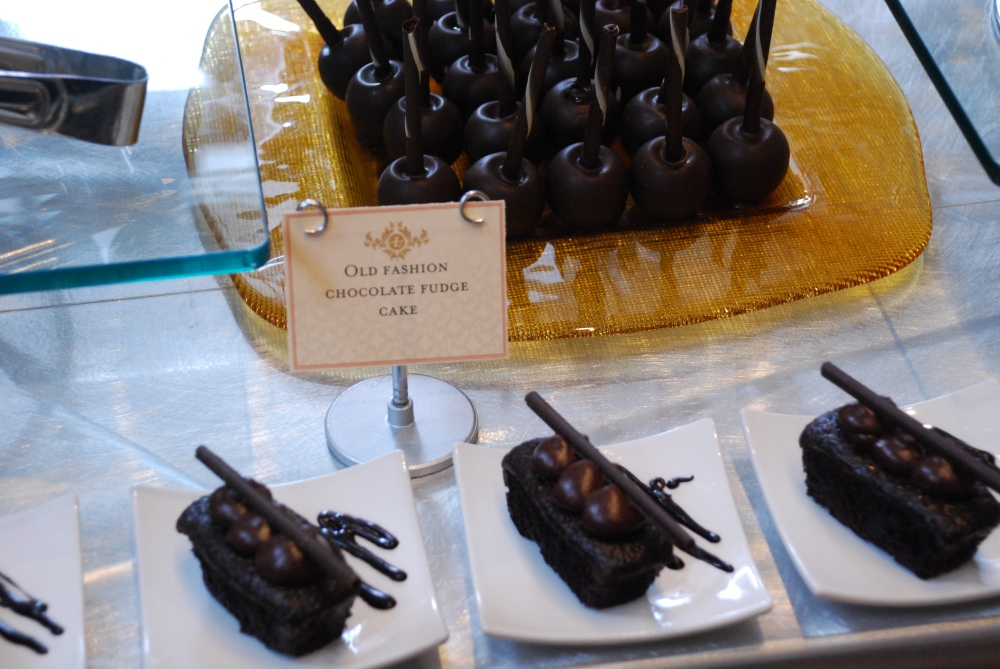 Chocolate topped with chocolate at The Langham Boston's Chocolate Bar.