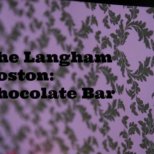 The Chocolate Bar at The Langham Boston is a feast for the eyes, a treat for your taste buds, and there is live music for your ears.