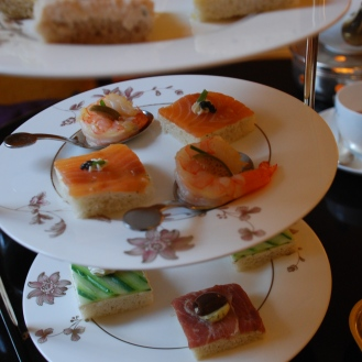 More beautiful and delicious...I forgot to say delicious...tea sandwiches