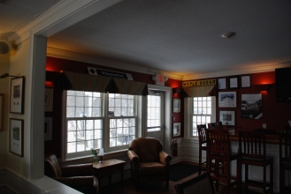 Mornings at The Hermitage Inn. The bar will be waiting for you and your friends after your day out on the Nordic trail or a late afternoon snowmobile ride.