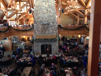 The Clubhouse at lunch time. It's quiet and relaxing. Not the usually loud, crowded ski lodge experience.