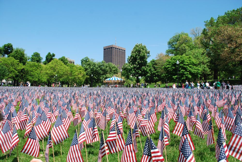 37,000 flags on Boston Common.