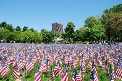 37,000 flags on Boston Common.