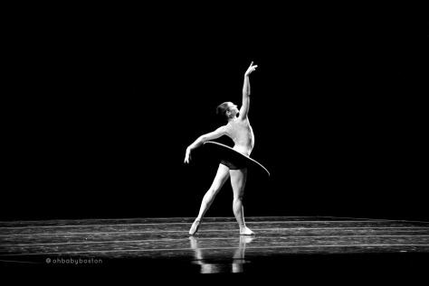 Principal Kathleen Breen Combes in The Vertiginous Thrill of Exactitude, part of Boston Ballet's Thrill of Contact.