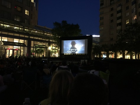 Movies begin at dusk.  Plan for a late night, of course as summer goes on the movies can start a bit earlier each week.