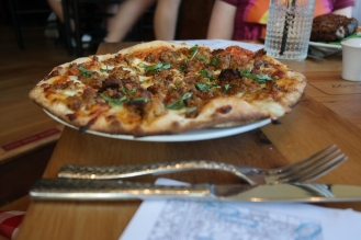 The sausage pizza was a hit and also served as a great meal the second day.