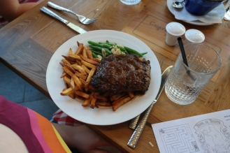 Isabelle's steak frites was perfectly cooked. It was enough for two meals and enjoyed just as much each time. These are also some of the most perfect fries I've had outside of Belgium.