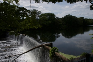 A look at one of the dams along the bike path.