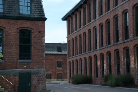 Original mill towns are now being revived as apartments, but you still get a sense of what the mill towns were like.