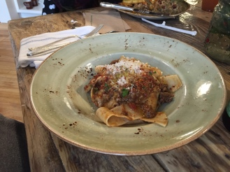 Pappardelle with a lamb Bolognese.