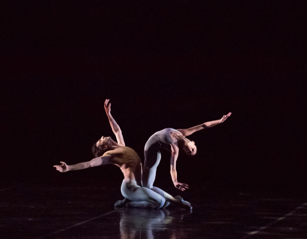 Lia Cirio and Eris Nezha of Boston Ballet in Norbert Vesak's Belong; photo by Gene Schiavone, courtesy Boston Ballet