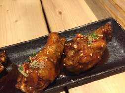 Sweet and spicy wings at Fuji at Assembly.