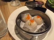 Stunning and delicious. The golden shrimp dumplings are delectable.