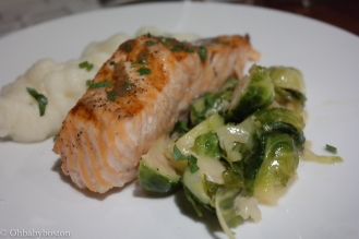 I didn't sample the grilled salmon but it looked delicious and I could go for this entire plate for dinner tonight.