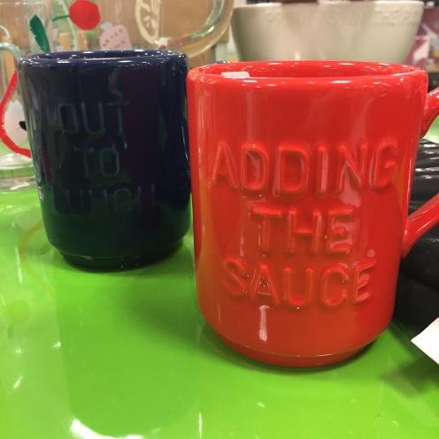 Saucy mugs.