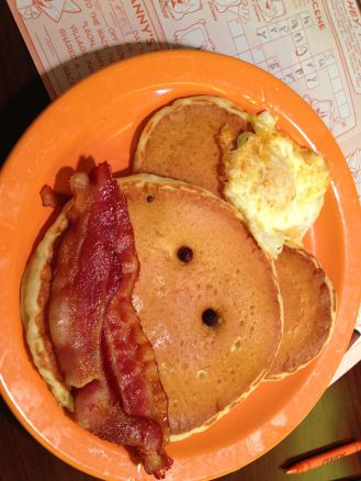 These pancakes from Village Inn in Orlando Florida are pretty darn cute. We prefer the monkey to all things mouse that can be a bit overwhelming in this part of the country.