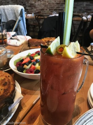 Can't choose between the bucket of bubbles with a choice of several juices (oj, peach nectar, apple cider, and more) or the bloody mary? Stay a while and get both.