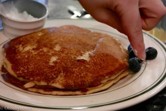 Pancakes at Black Eyed Susan's on Nantucket. A perfect Nantucket weekend includes breakfast here.