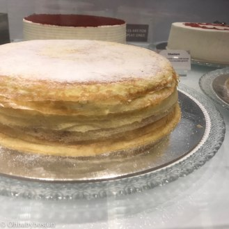 A gorgeous Milles Crêpes cake from Lady M Confections on Newbury St. in Boston.
