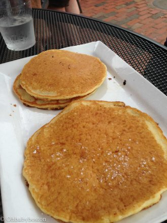 Pancakes on the way to Wellfleet at Café Chew, Sandwich.