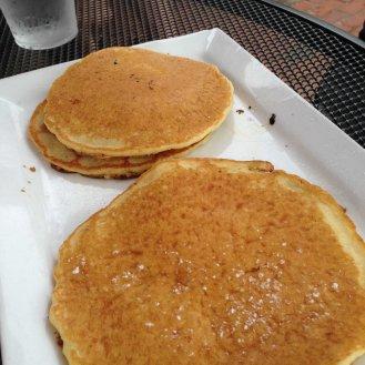 Pancakes on the way to Wellfleet at Café Chew, Sandwich.