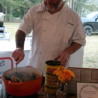 Chef Brian Houlihan at work.