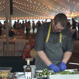 Chef Greg Jordan at work.